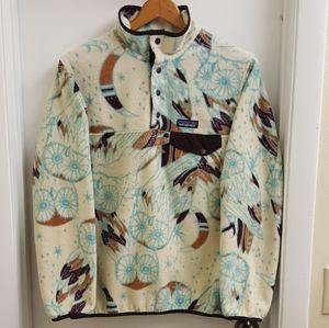 😍RARE Patagonia owl synchilla fleece pulover sz S